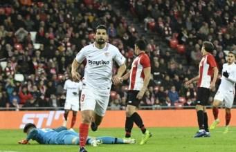 Nolito celebra su gol ante el Athletic Club