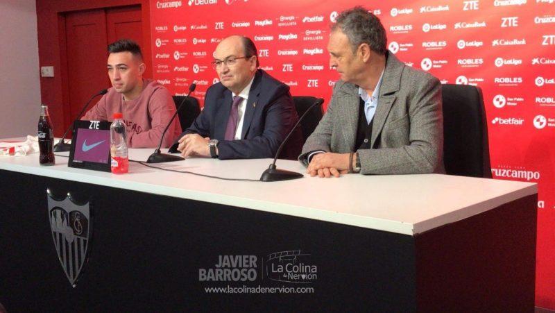 Caparrós, sobre las renovaciones de Mercado, Banega y Sarabia