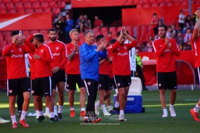 Las mejores fotos del entrenamiento del Sevilla antes del derbi