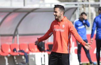Pablo Sarabia, durante un entrenamiento con el Sevilla   Imagen: Sevilla FC
