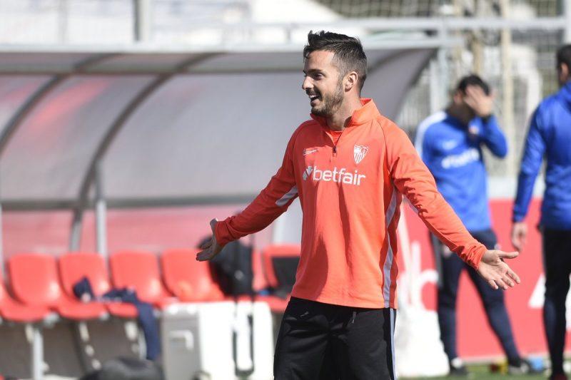 Pablo Sarabia, durante un entrenamiento con el Sevilla | Imagen: Sevilla FC