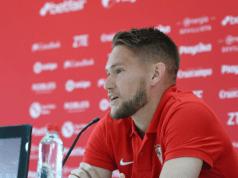 Tomas Vaclík atiende a los medios de comunicación |Imagen: Sevilla FC
