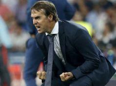 Lopetegui, el elegido por Monchi, en un encuentro con el Real Madrid.