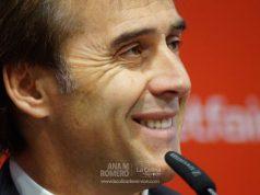 Lopetegui, durante su presentación | Imagen: La Colina de Nervión - Ana M Romero