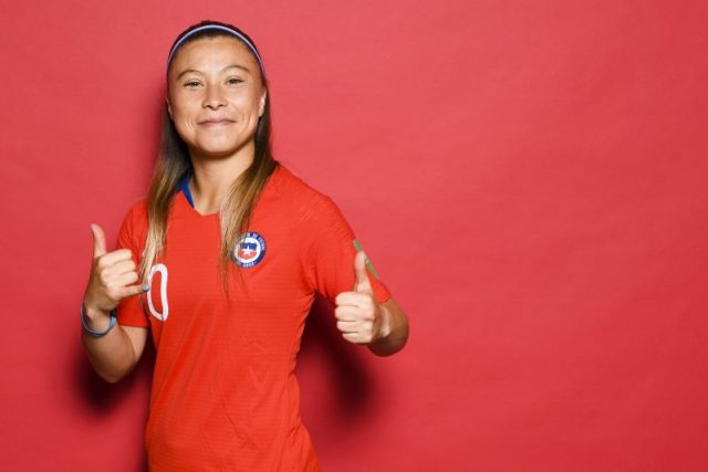RENNES, FRANCE - JUNE 09: Yanara Aedo of Chile poses for a portrait during the official FIFA Women's World Cup 2019 portrait session at Best Western Plus Hotel Isidore on June 09, 2019 in Rennes, France. (Photo by David Ramos - FIFA/FIFA via Getty Images)