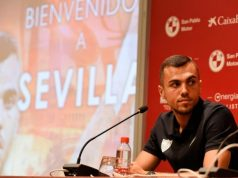 Presentación de Joan Jordán como nuevo jugador del Sevilla. | Imagen: Sevilla FC