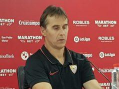 Loptegui, en la rueda de prensa posterior al partido contra el Celta de Vigo   Imagen: La Colina de Nervión - Álvaro Fuentes