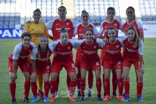 Once del Sevilla Femenino en la I Copa Colombina   Imagen: La Colina de Nervión - Javi Barroso