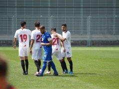 Nolito, celebrando uno de los tantos conseguidos ante el Hoffenheim   Imagen: Sevilla FC