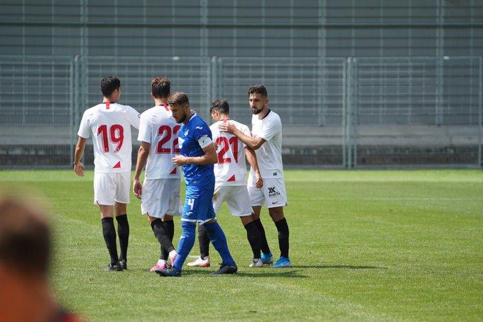 Nolito, celebrando uno de los tantos conseguidos ante el Hoffenheim | Imagen: Sevilla FC