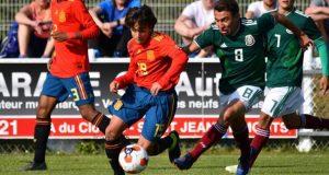 Carlos Álvarez, durante el torneo Montaigu con la selección española sub-16  Imagen: RFEF
