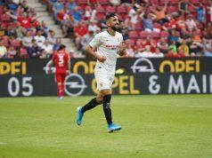 Dabbur, celebrando uno de los tantos anotados la Mainz | Imagen: Sevilla FC