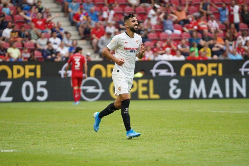 Dabbur, celebrando uno de los tantos anotados la Mainz   Imagen: Sevilla FC