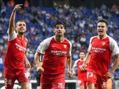 Joan Jordán, Nolito y Reguiñón, celebrando el tanto del gaditano ante el Espanyol | Imagen: UEFA