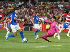 Munir, durante una jugada ante el Granada   Imagen: Sevilla FC