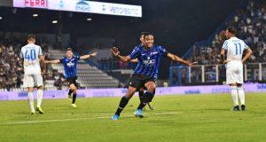 Luis Muriel, celebrando uno de sus goles con el Atalanta | Imagen: Atalanta BC