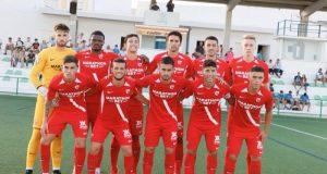 Once titular del Sevilla Atlético ante la UB Lebrijana | Imagen: Sevilla FC