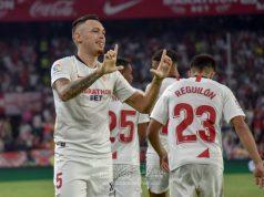 Lucas Ocampos, celebrando el gol ante la Real Sociedad | Imagen: La Colina de Nervión - Javi Barroso