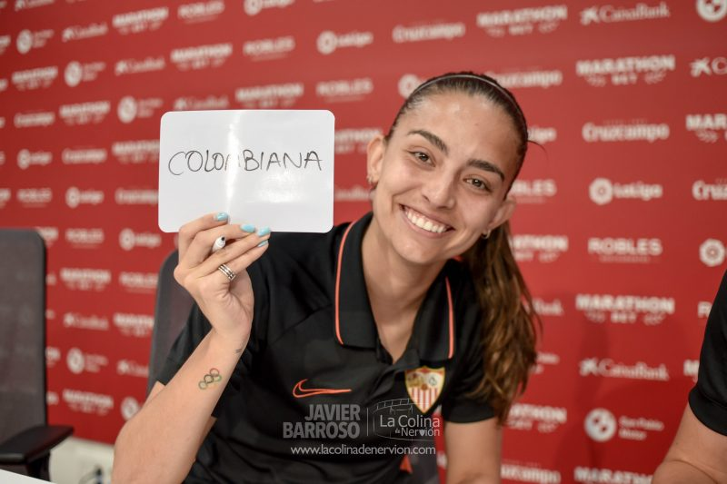 Isabella Echeverri, jugadora del Sevilla Femenino   Imagen: La Colina de Nervión - Javi Barroso