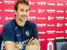 Lopetegui, técnico del Sevilla, durante la rueda de prensa previa al partido frente al Alavés | Imagen: Sevilla FC