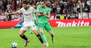 Franco Vázquez pugna con Bale durante el Sevilla - Real Madrid | Imagen: Sevilla FC