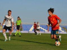 Bryan Gil, durante un partido de España frente a Alemania | Imagen: Sevilla FC
