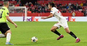 Bryan Gil, durante el partido frente al Dudelange | Imagen: Sevilla FC