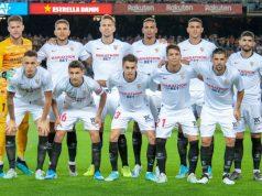 Alineación que presentó el Sevilla ante el Barcelona en el Camp Nou | Imagen: Sevilla FC