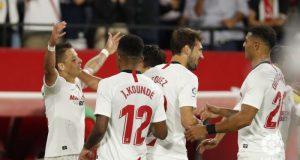 Chicharito celebrando su primer gol en LaLiga || Imagen: LaLiga