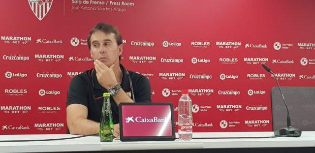 Lopetegui, en la sala de prensa del Sevilla | Imagen: La Colina de Nervión