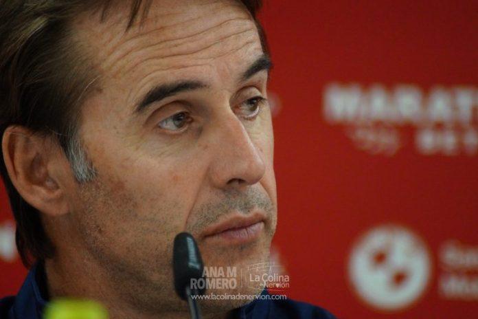 Julen Lopetegui durante la rueda de prensa | Ana M Romero - La Colina de Nervión