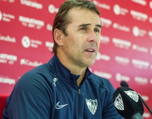 Julen Lopetegui, atendiendo a los medios en la rueda de prensa previa al partido ante el Leganés | Imagen: Sevilla FC