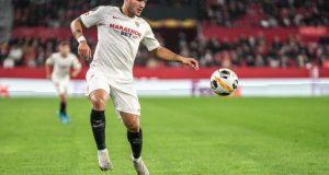 Rony Lopes, en una acción durante el Sevilla FC - Qarabag, no tiene la confianza de Lopetegui | Imagen: Sevilla FC