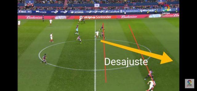 Imagen del primer gol del Sevilla en Pamplona
