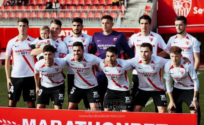 Once inicial del Sevilla Atlético frente al Villarrubia | Foto: Ana Marín - La Colina de Nervión