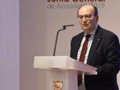 Pepe Castro, en la Junta General de Accionistas celebrada en el Hotel Los Lebreros