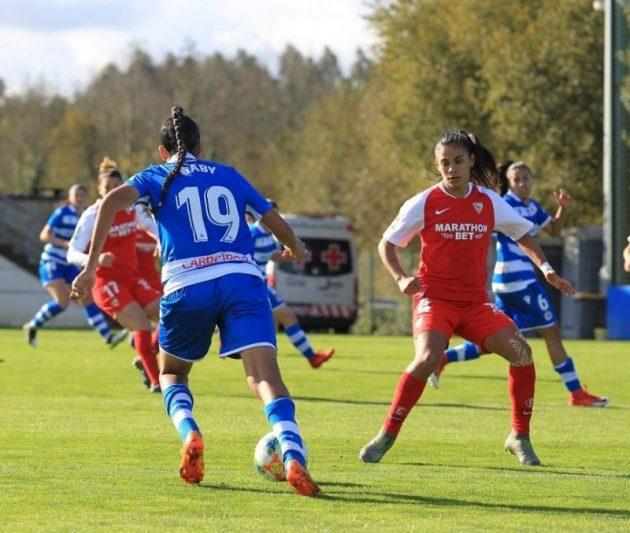 Una jugada en el Deportivo - Sevilla Femenino | Imagen: Sevilla FC