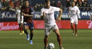 Óliver Torres, durante el partido entre Osasuna y Sevilla Imagen: Sevilla FC