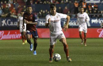 Óliver Torres, durante el partido entre Osasuna y Sevilla|Imagen: Sevilla FC