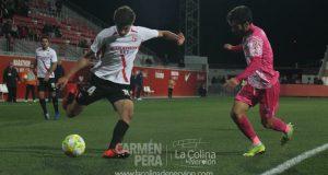 Juanlu, del Sevilla Atlético, durante el partido ante el CD Badajoz | Imagen: La Colina de Nervión - Carmen Pera