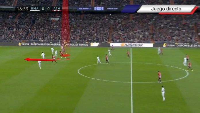 Ante el Real Madrid en el Santiago Bernabéu