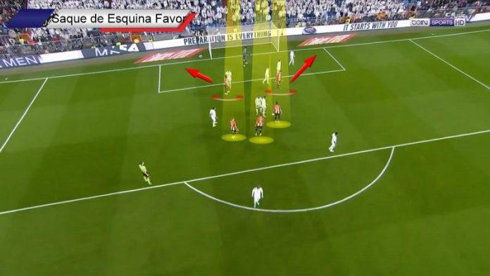 Saque de esquina a favor ante Real Madrid
