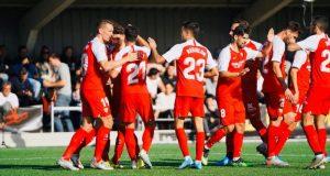 El Sevilla celebra uno de sus tantos frente al Escobedo | Foto Sevilla FC