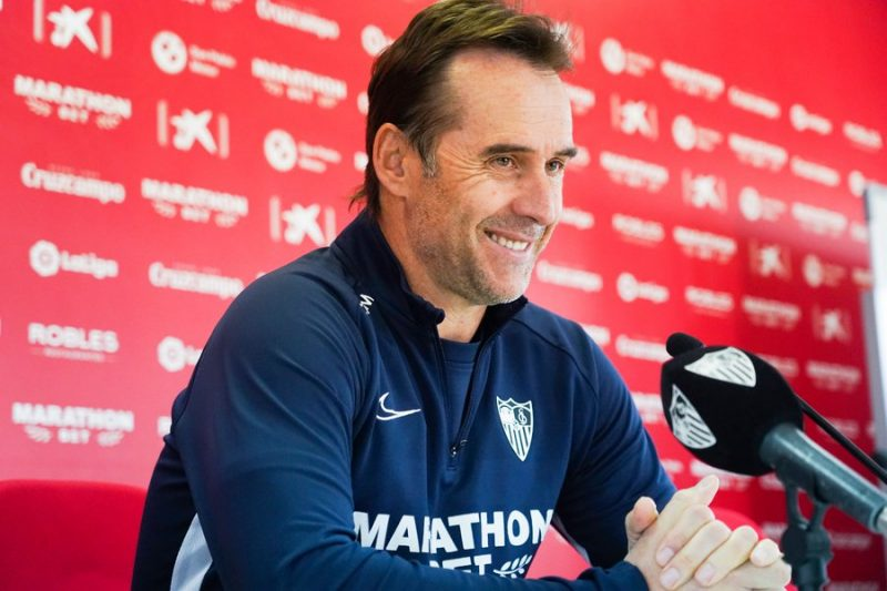 Lopetegui, técnico del Sevilla, durante una rueda de prensa previa a un partido de Copa del Rey | Imagen: Sevilla FC