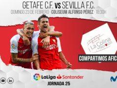Previa del partido entre el Getafe y el Sevilla