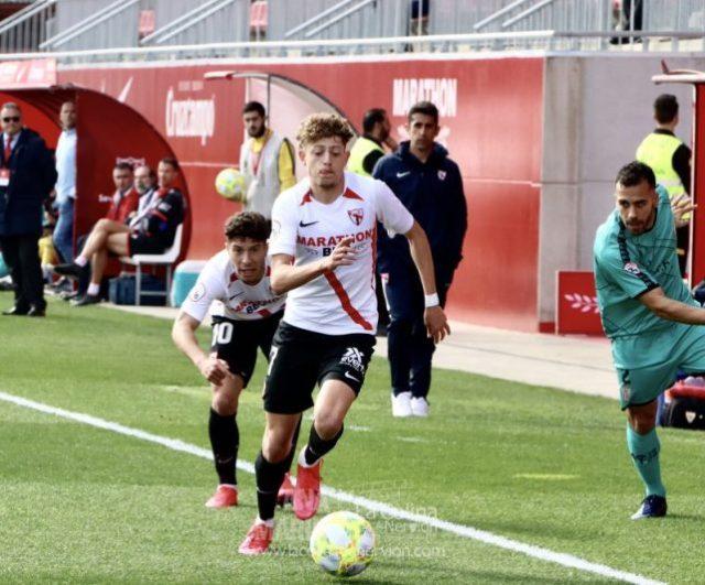 Simo con el Sevilla Atlético en el partido ante el Algeciras CF