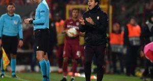 Julen Lopetegui, durante el partido entre el Cluj y el Sevilla FC |Imagen: Daniel MIHAILESCU / AFP- Getty Images