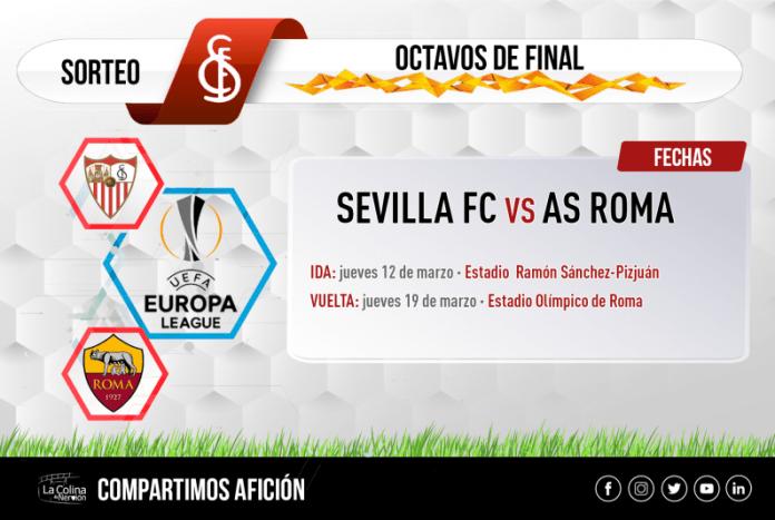 El sorteo de la Europa League cita a Sevilla y Roma en octavos de final