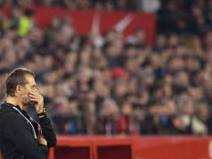 Julen Lopetegui, durante el partido del Sevilla FC ante el Athletic Club | Imagen: CRISTINA QUICLER / AFP via Getty Images
