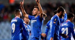 Munir, celebrando un tanto conseguido con el Sevilla FC |Imagen: JOHN THYS/AFP via Getty Images